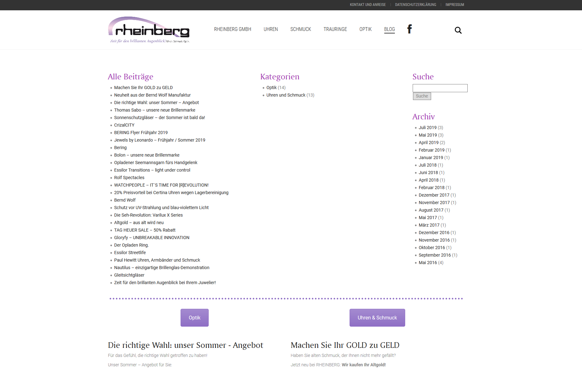 Referenz - Blog Rheinberg